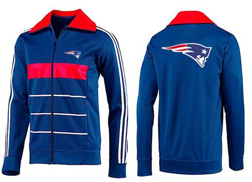 NFL New England Patriots Team Logo Jacket Blue_3