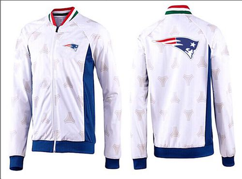 NFL New England Patriots Team Logo Jacket White_2