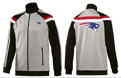 NFL New England Patriots Team Logo Jacket Grey
