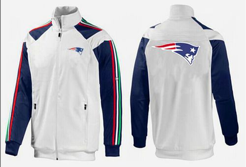 NFL New England Patriots Team Logo Jacket White_3