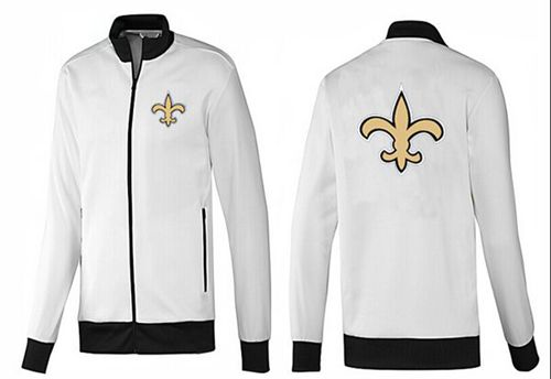 NFL New Orleans Saints Team Logo Jacket White_1
