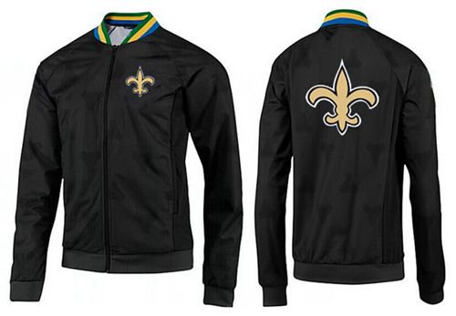 NFL New Orleans Saints Team Logo Jacket Black_4