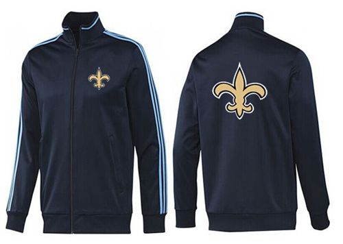 NFL New Orleans Saints Team Logo Jacket Dark Blue_2