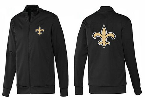 NFL New Orleans Saints Team Logo Jacket Black_1