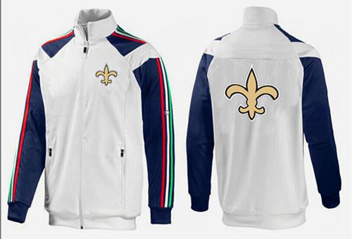 NFL New Orleans Saints Team Logo Jacket White_2