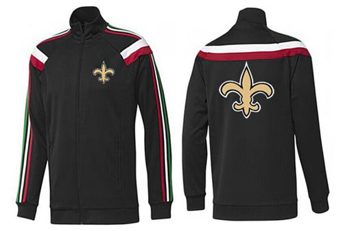 NFL New Orleans Saints Team Logo Jacket Black_2