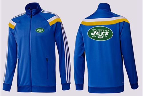 NFL New York Jets Team Logo Jacket Blue_4