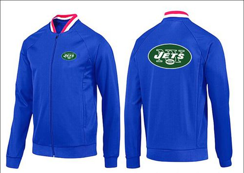 NFL New York Jets Team Logo Jacket Blue_1