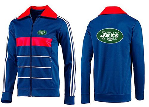 NFL New York Jets Team Logo Jacket Blue_3