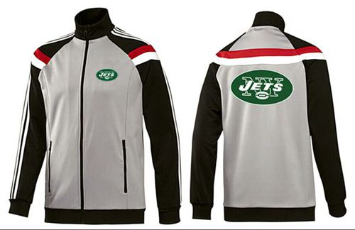 NFL New York Jets Team Logo Jacket Grey