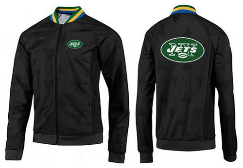 NFL New York Jets Team Logo Jacket Black_3