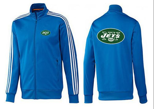 NFL New York Jets Team Logo Jacket Blue_2