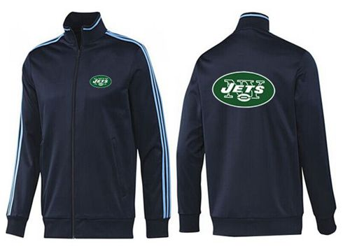 NFL New York Jets Team Logo Jacket Dark Blue_2