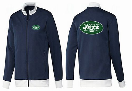 NFL New York Jets Team Logo Jacket Dark Blue_1