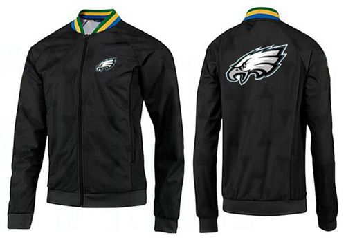 NFL Philadelphia Eagles Team Logo Jacket Black_2