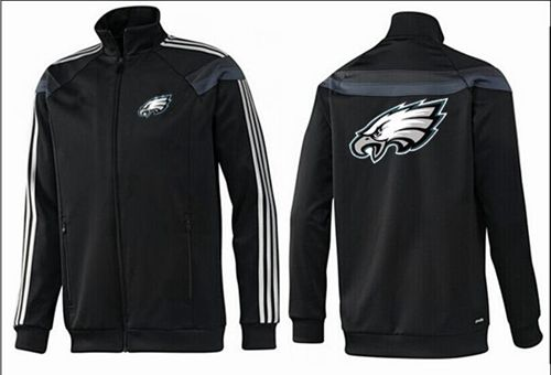 NFL Philadelphia Eagles Team Logo Jacket Black_4