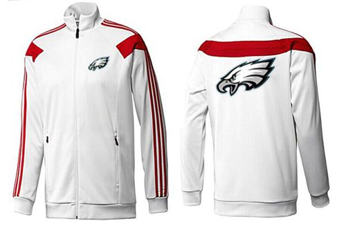 NFL Philadelphia Eagles Team Logo Jacket White_1