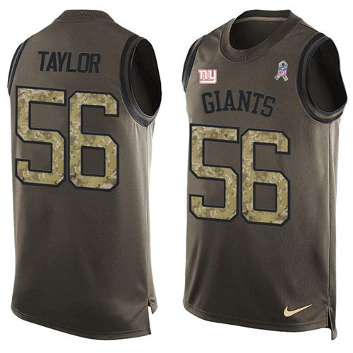 Nike Giants #56 Lawrence Taylor Green Men's Stitched NFL Limited Salute To Service Tank Top Jersey