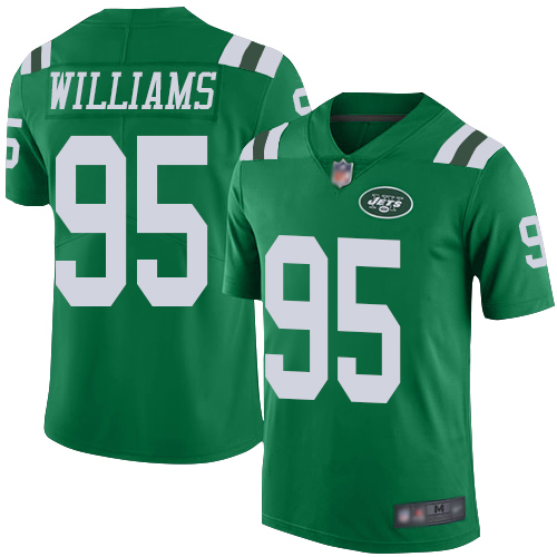 Nike Jets #95 Quinnen Williams Green Men's Stitched NFL Limited Rush Jersey