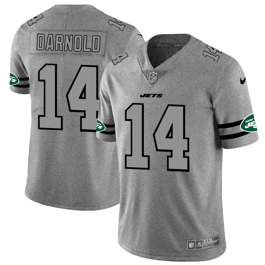 New York Jets #14 Sam Darnold Men's Nike Gray Gridiron II Vapor Untouchable Limited NFL Jersey