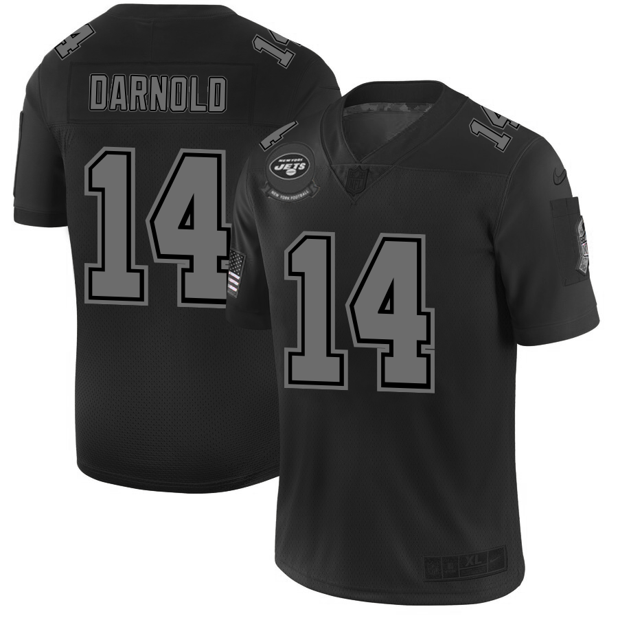 New York Jets #14 Sam Darnold Men's Nike Black 2019 Salute to Service Limited Stitched NFL Jersey