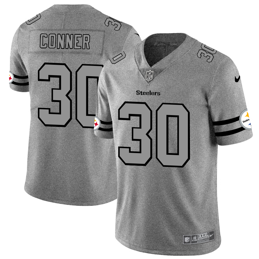 Pittsburgh Steelers #30 James Conner Men's Nike Gray Gridiron II Vapor Untouchable Limited NFL Jersey