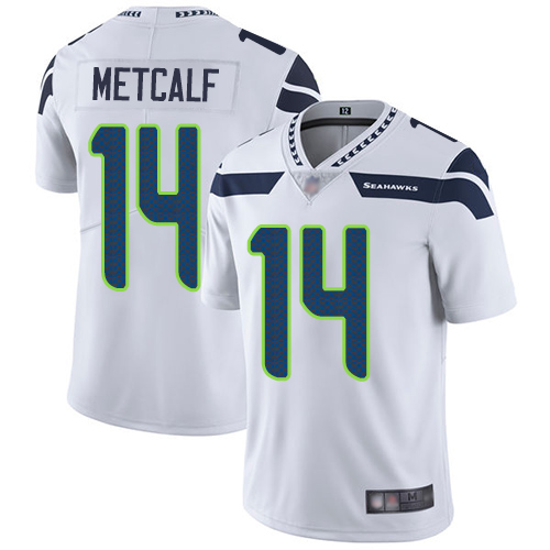 Nike Seahawks #14 D.K. Metcalf White Men's Stitched NFL Vapor Untouchable Limited Jersey