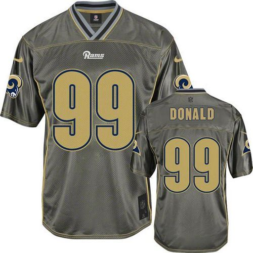 Nike Rams #99 Aaron Donald Grey Men's Stitched NFL Elite Vapor Jersey