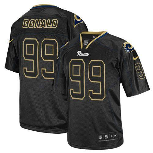Nike Rams #99 Aaron Donald Lights Out Black Men's Stitched NFL Elite Jersey