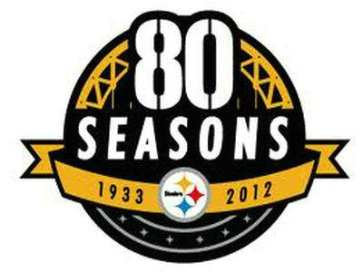 Stitched Pittsburgh Steelers 80th Anniversary Jersey Patch