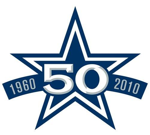Stitched Dallas Cowboys 50th Anniversary Jersey Patch