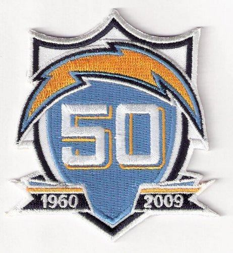 Stitched Los Angeles Chargers 50th Anniversary Jersey Patch