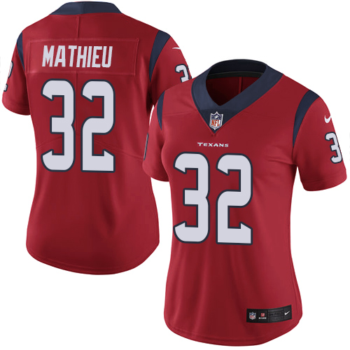 Texans #32 Tyrann Mathieu Red Alternate Women's Stitched NFL Vapor Untouchable Limited Jersey