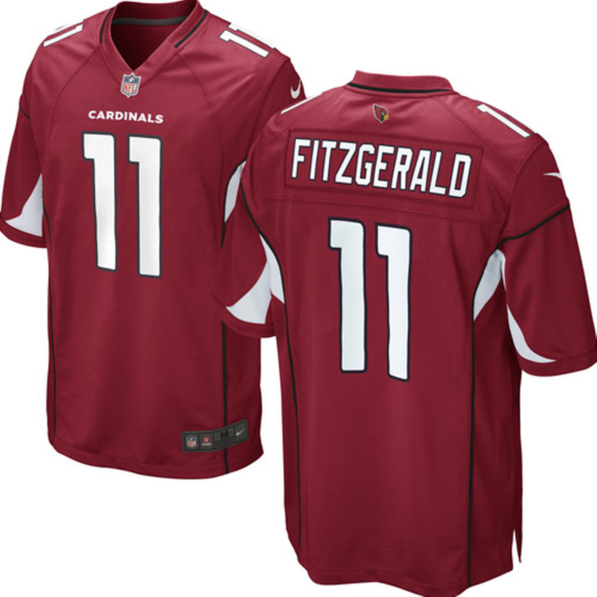 Men's Arizona Cardinals #11 Larry Fitzgerald Team Color Stitched Limited NFL Jersey