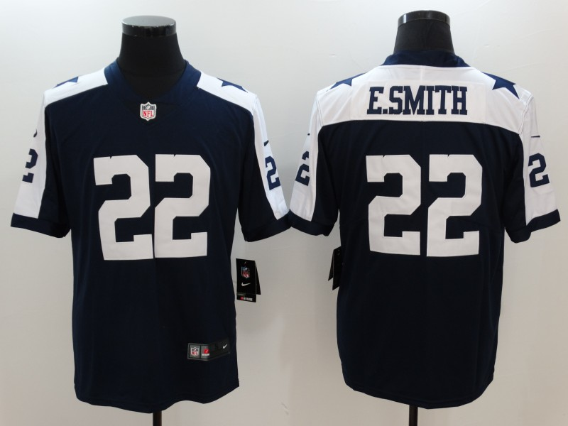 Men's Dallas Cowboys #22 Emmitt Smith Navy Vapor Untouchable Player Limited Jersey