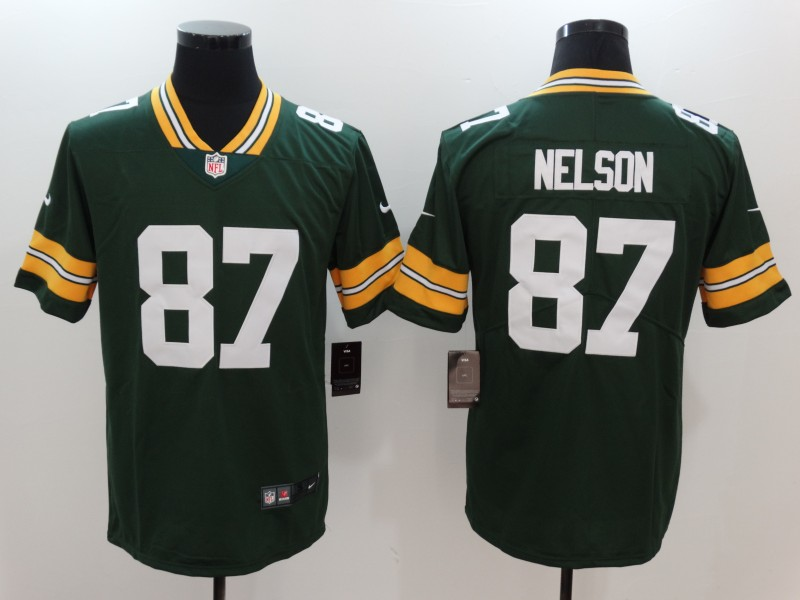 Men's Green Bay Packers #87 Jordy Nelson Green Vapor Untouchable Player Limited Jersey