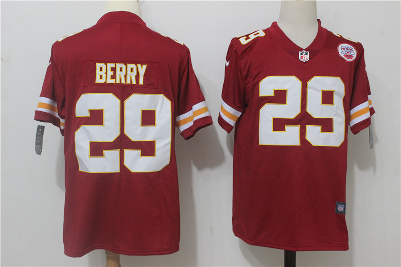 Men's Nike Kansas City Chiefs #29 Eric Berry Red Team Color Stitched NFL Vapor Untouchable Limited Jersey