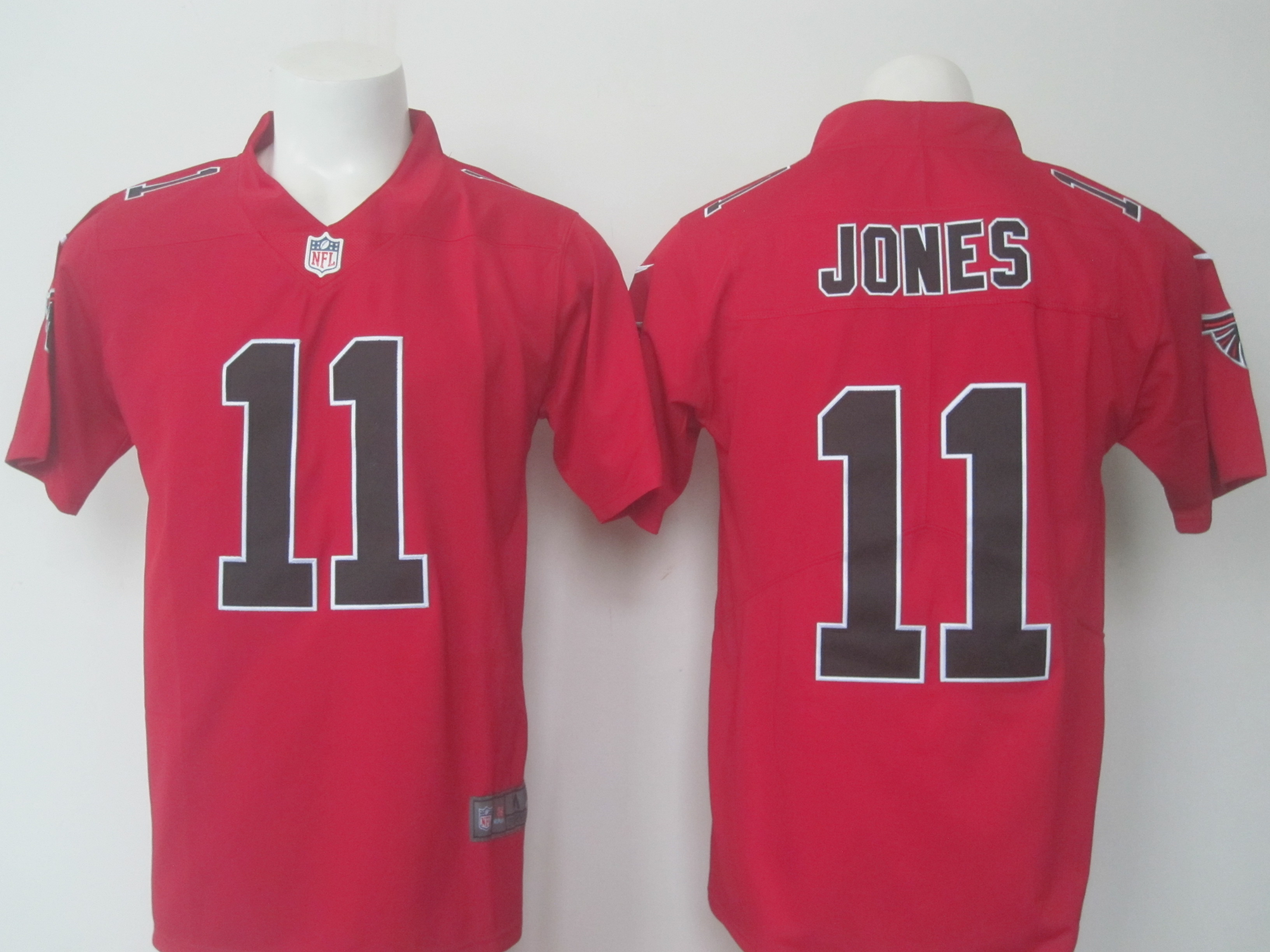 Men's Nike Falcons #11 Julio Jones Red Limited Rush Stitched NFL Jersey