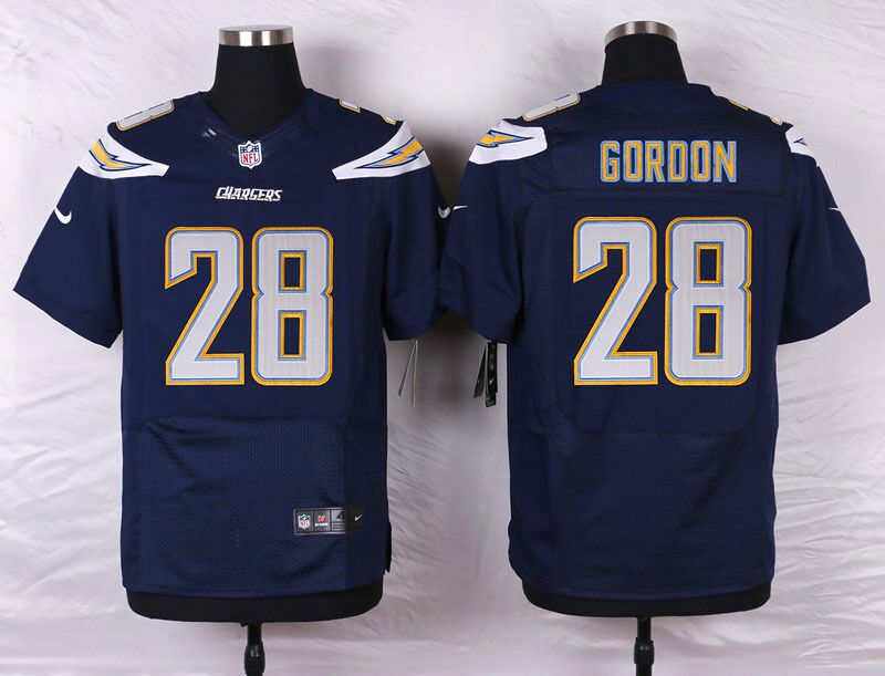Men's Nike Los Angeles Chargers #28 Melvin Gordon Navy Blue Stitched NFL Elite Jersey