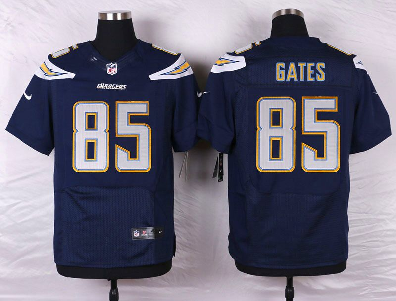 Men's Nike Los Angeles Chargers #85 Antonio Gates Navy Blue Team Color Stitched NFL Elite Jersey