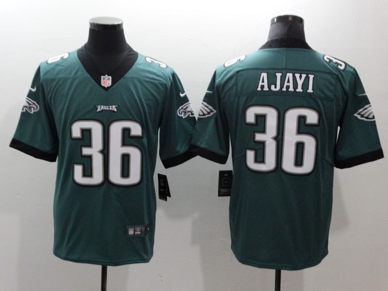 Men's Philadelphia Eagles #36 Jay Ajayi Green Vapor Untouchable Limited Stitched NFL Jersey