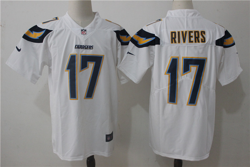 Men's Nike Los Angeles Chargers #17 Philip Rivers White Stitched NFL Vapor Untouchable Limited Jersey