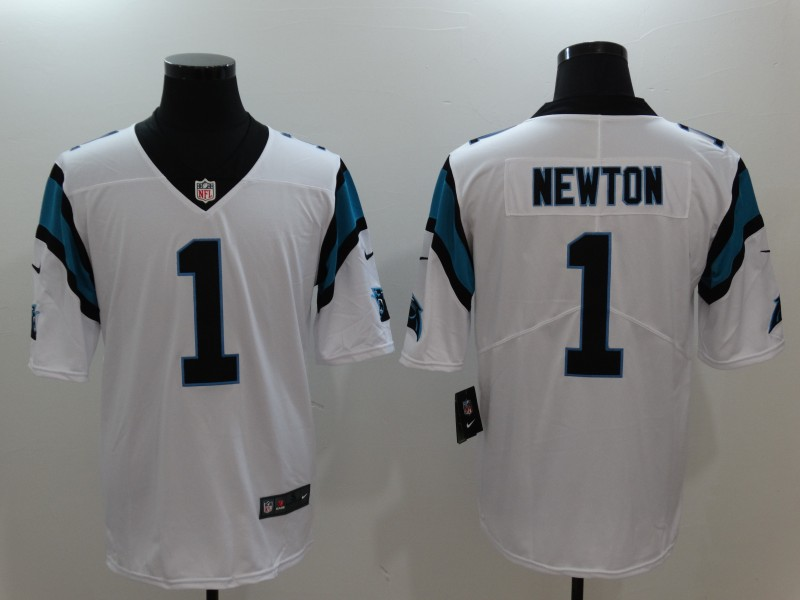 Men's Carolina Panthers #1 Cam Newton White Vapor Untouchable Player Limited Jersey