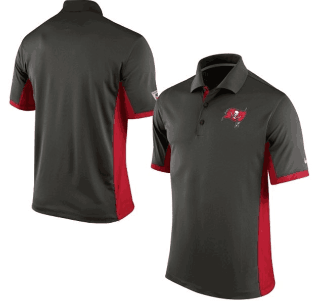 Men's Tampa Bay Buccaneers Nike Black Evergreen Polo