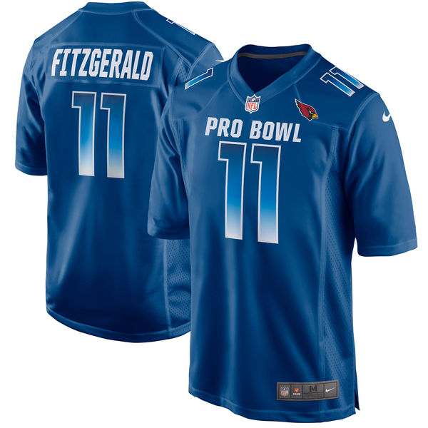 Men's NFC Larry Fitzgerald Royal 2018 Pro Bowl Game Jersey