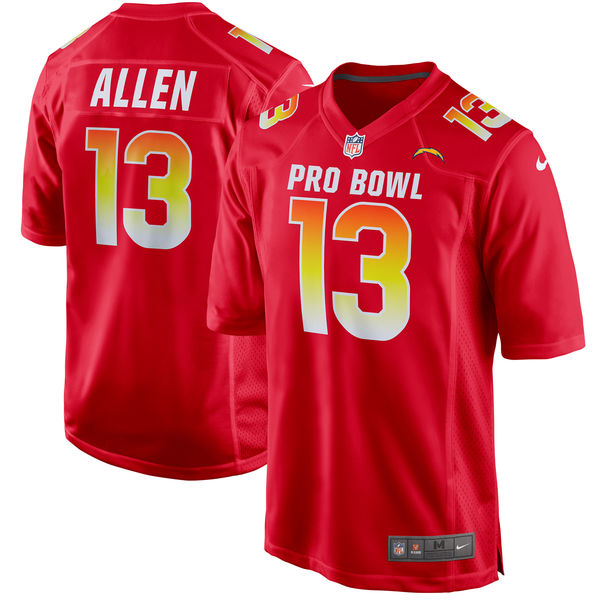 Men's AFC Keenan Allen Red 2018 Pro Bowl Game Jersey