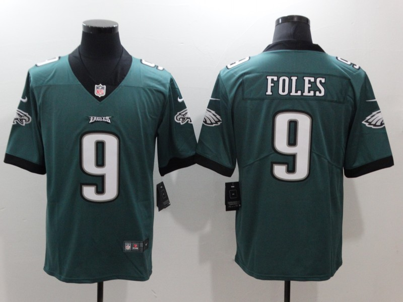 Men's Philadelphia Eagles #9 Nick Foles Green Vapor Untouchable Limited Stitched NFL Jersey