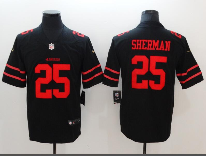 Men's San Francisco 49ers #25 Richard Sherman Black Vapor Untouchable Limited Stitched NFL Jersey