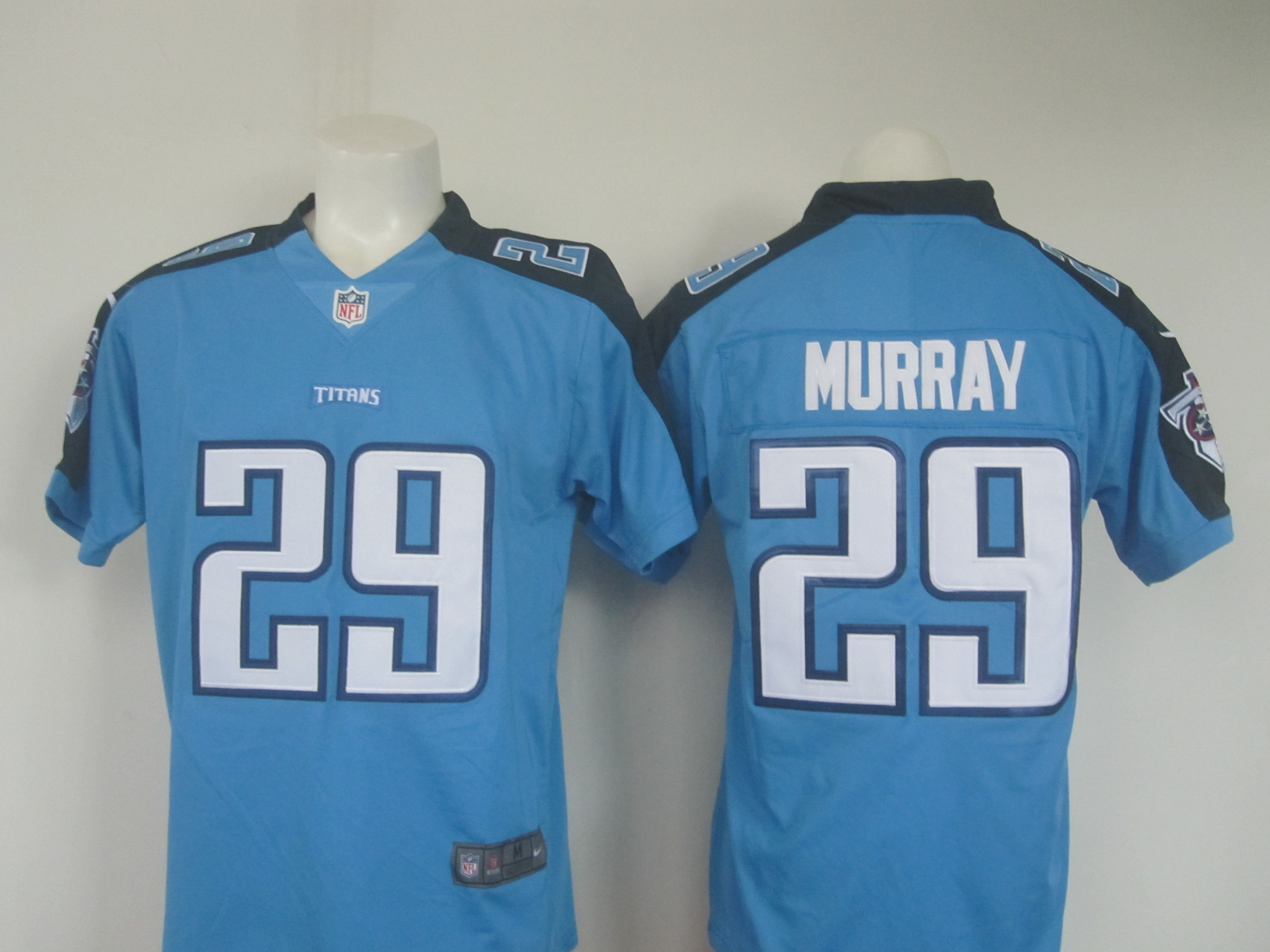 Men's Nike Titans #29 DeMarco Murray Light Blue Limited Rush Stitched NFL Jersey