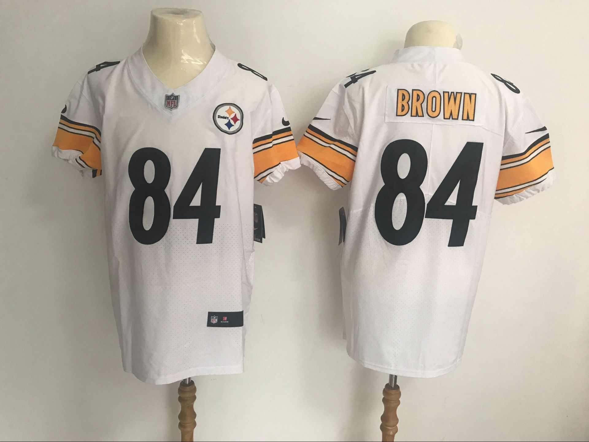 Men's Pittsburgh Steelers #84 Antonio Brown White Vapor Untouchable Elite Stitched NFL Jersey